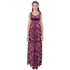 DMS2 BK-PK MARBLE (R) Empire Waist Maxi Dress