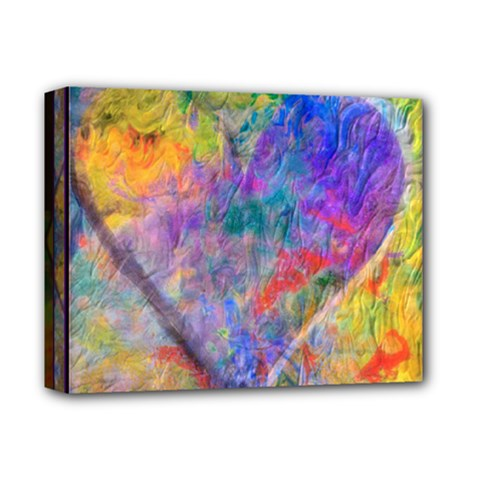 ONE LOVE pastel montage 2016 Deluxe Canvas 14  x 11  (Framed)