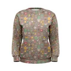 Tea Party Pattern Women s Sweatshirt