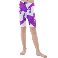 Koi Carp Fish Water Japanese Pond Kids  Mid Length Swim Shorts