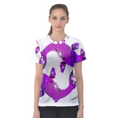 Koi Carp Fish Water Japanese Pond Women s Sport Mesh Tee
