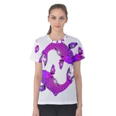 Koi Carp Fish Water Japanese Pond Women s Cotton Tee
