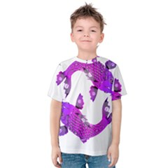 Koi Carp Fish Water Japanese Pond Kids  Cotton Tee