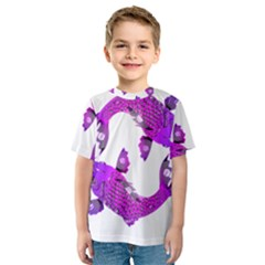Koi Carp Fish Water Japanese Pond Kids  Sport Mesh Tee