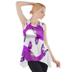 Koi Carp Fish Water Japanese Pond Side Drop Tank Tunic