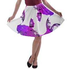 Koi Carp Fish Water Japanese Pond A-line Skater Skirt