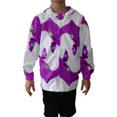 Koi Carp Fish Water Japanese Pond Hooded Wind Breaker (Kids)