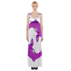 Koi Carp Fish Water Japanese Pond Maxi Thigh Split Dress