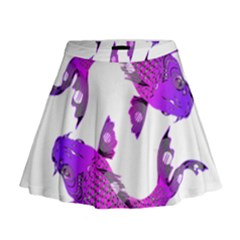 Koi Carp Fish Water Japanese Pond Mini Flare Skirt