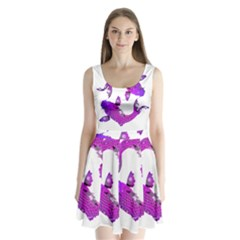 Koi Carp Fish Water Japanese Pond Split Back Mini Dress