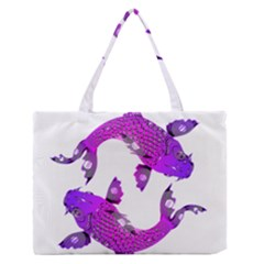 Koi Carp Fish Water Japanese Pond Medium Zipper Tote Bag