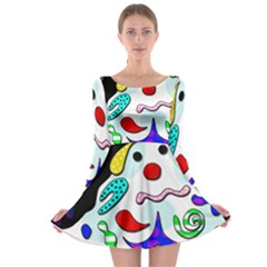 Candy man` Long Sleeve Skater Dress