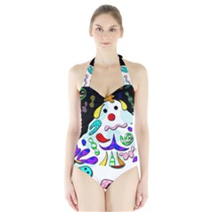 Candy man` Halter Swimsuit