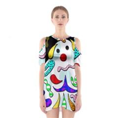 Candy man` Cutout Shoulder Dress