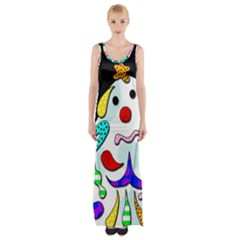 Candy man` Maxi Thigh Split Dress