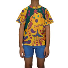 Candy Man 2 Kids  Short Sleeve Swimwear