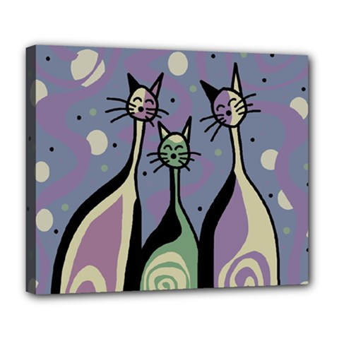 Cats Deluxe Canvas 24  x 20
