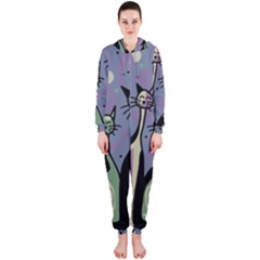 Cats Hooded Jumpsuit (Ladies)