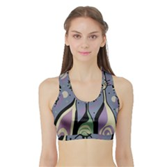 Cats Sports Bra with Border