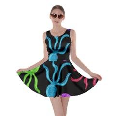 Colorful Octopuses Pattern Skater Dress