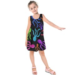 Colorful octopuses pattern Kids  Sleeveless Dress