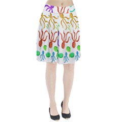 Octopuses pattern Pleated Skirt