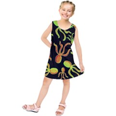 Octopuses pattern 2 Kids  Tunic Dress
