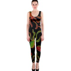Octopuses pattern 4 OnePiece Catsuit