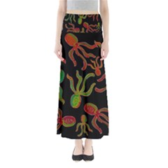 Octopuses pattern 4 Maxi Skirts