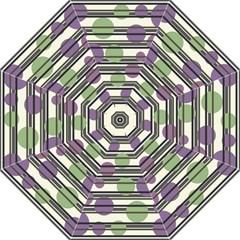 Purple and green elegant pattern Straight Umbrellas