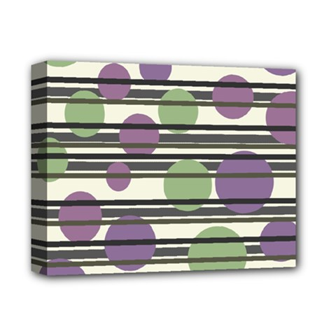 Purple and green elegant pattern Deluxe Canvas 14  x 11