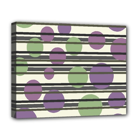Purple and green elegant pattern Deluxe Canvas 20  x 16