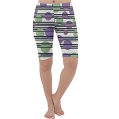 Purple and green elegant pattern Cropped Leggings