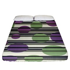 Purple And Green Elegant Pattern Fitted Sheet (king Size)