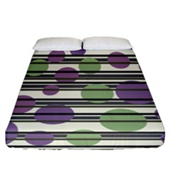Purple And Green Elegant Pattern Fitted Sheet (california King Size)