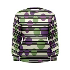 Purple and green elegant pattern Women s Sweatshirt