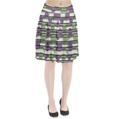 Purple and green elegant pattern Pleated Skirt