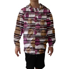 Simple decorative pattern Hooded Wind Breaker (Kids)