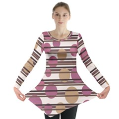 Simple decorative pattern Long Sleeve Tunic