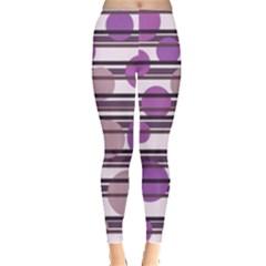 Purple simple pattern Leggings