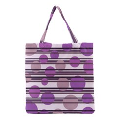 Purple simple pattern Grocery Tote Bag