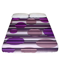 Purple Simple Pattern Fitted Sheet (king Size)