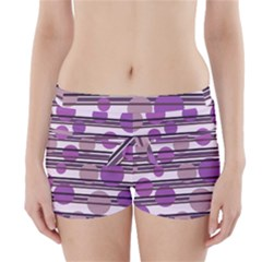 Purple simple pattern Boyleg Bikini Wrap Bottoms