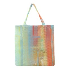 Unique Abstract In Green, Blue, Orange, Gold Grocery Tote Bag