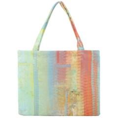 Unique abstract in green, blue, orange, gold Mini Tote Bag