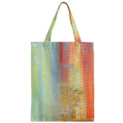 Unique abstract in green, blue, orange, gold Classic Tote Bag