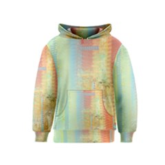 Unique Abstract In Green, Blue, Orange, Gold Kids  Pullover Hoodie