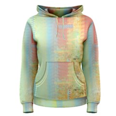Unique Abstract In Green, Blue, Orange, Gold Women s Pullover Hoodie
