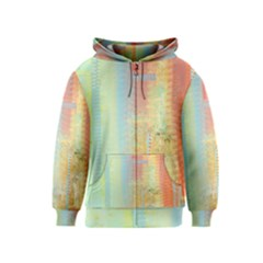 Unique Abstract In Green, Blue, Orange, Gold Kids  Zipper Hoodie