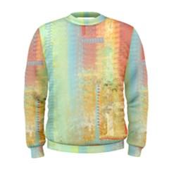 Unique Abstract In Green, Blue, Orange, Gold Men s Sweatshirt